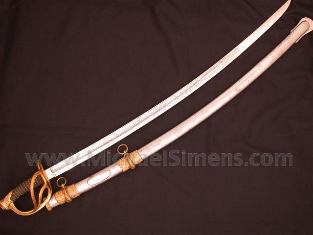 TIFFANY CIVIL WAR CAVALRY SABER / SWORD, PRESENTATION.