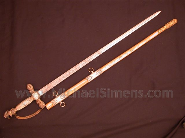 AMES MEXICAN WAR PRESENTATION OFFICERS SWORD.