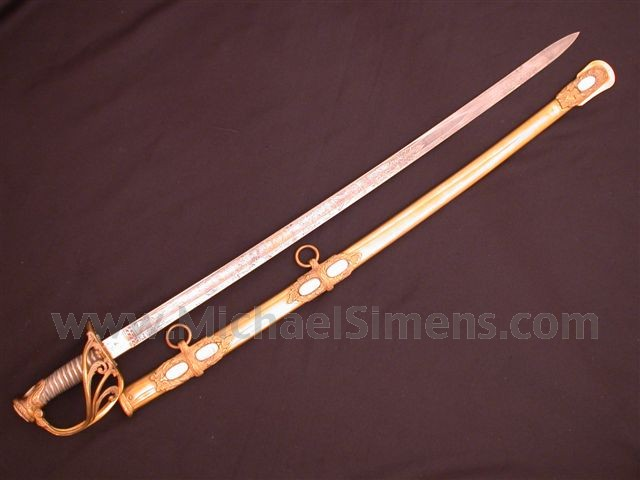 CIVIL WAR OFFICERS SWORD, SAUERBIER STAFF & FIELD OFFICERS PRESENTATION SWORD