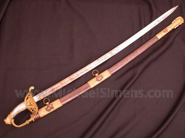 INSCRIBED CIVIL WAR SWORD, PRESENTATION OFFICERS SWORD BY HORSTMANN