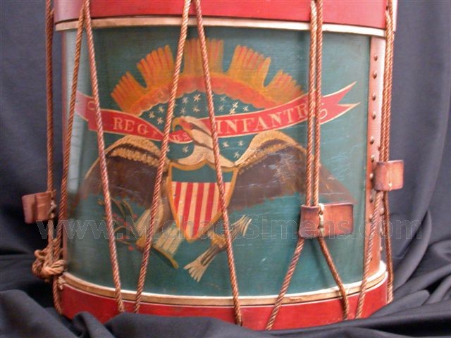 ANTIQUE CIVIL WAR EAGLE DRUM