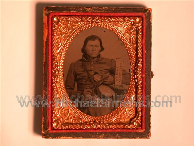 "CONFEDERATE CIVIL WAR IMAGE WITH ULTRA-RARE AND DESIREABLE "" JEFF DAVIS AND THE SOUTH! "" MOTIF"