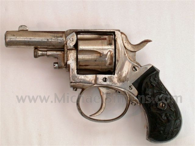 "ANTIQUE GUN, ""BRITISH BULLDOG"" REVOLVER"