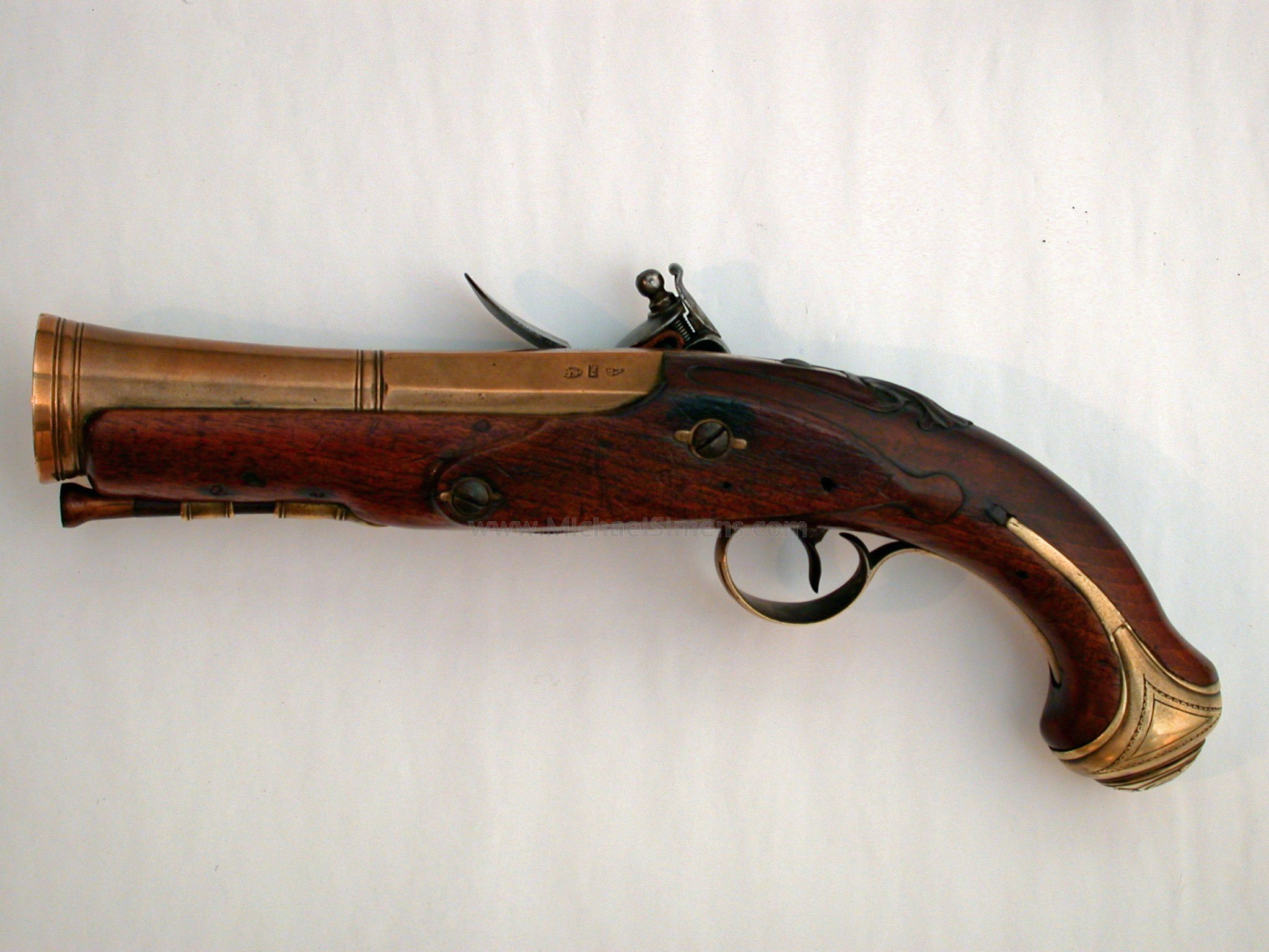 London BLUNDERBUSS Brass Barrel Flintlock Naval... for sale