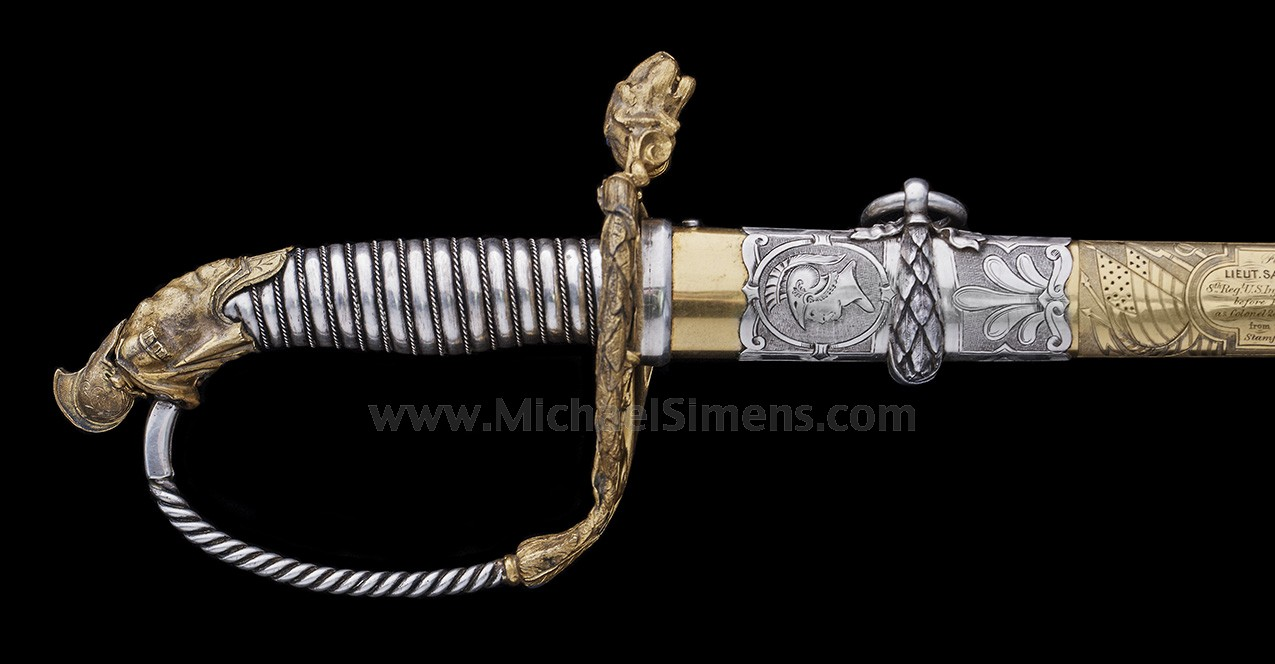 PRESENTATION TIFFANY SWORD, CASED WITH ACCESSORIES