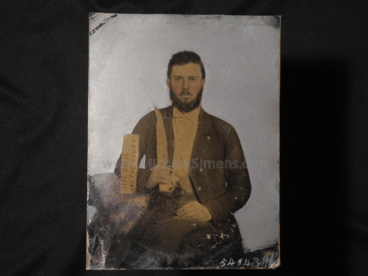 "CONFEDERATE IMAGE WITH ""JEFF DAVIS AND THE SOUTH"""