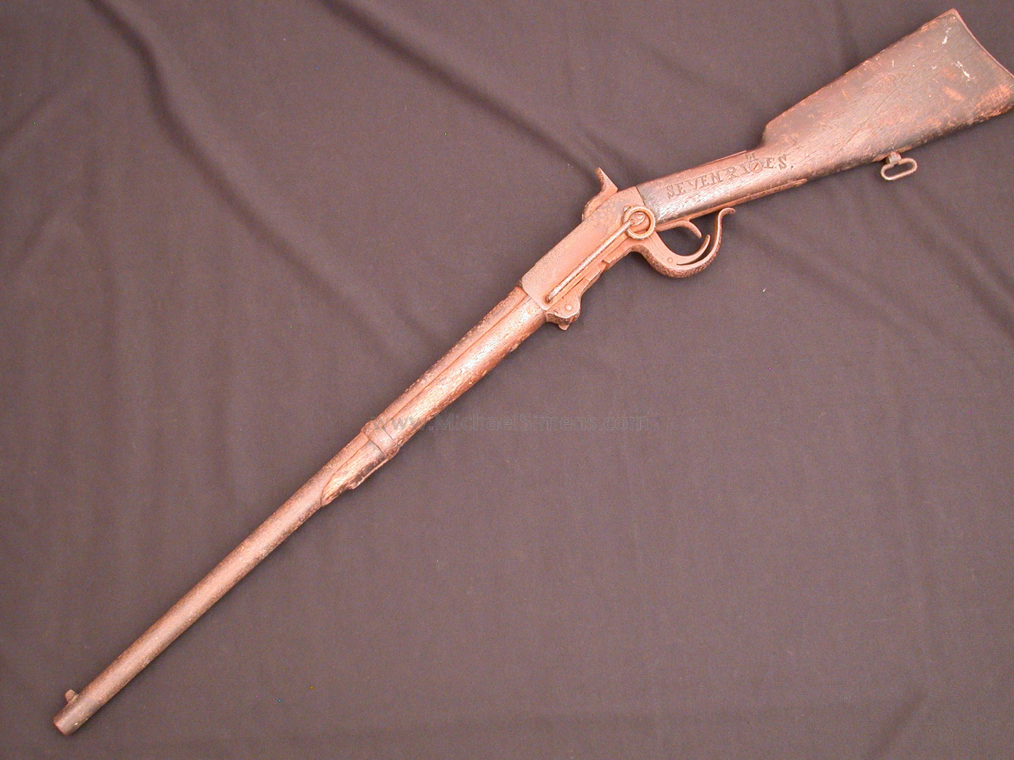 CIVIL WAR BURNSIDE CARBINE, IDENTIFIED TO ALABAMA SOLDIER