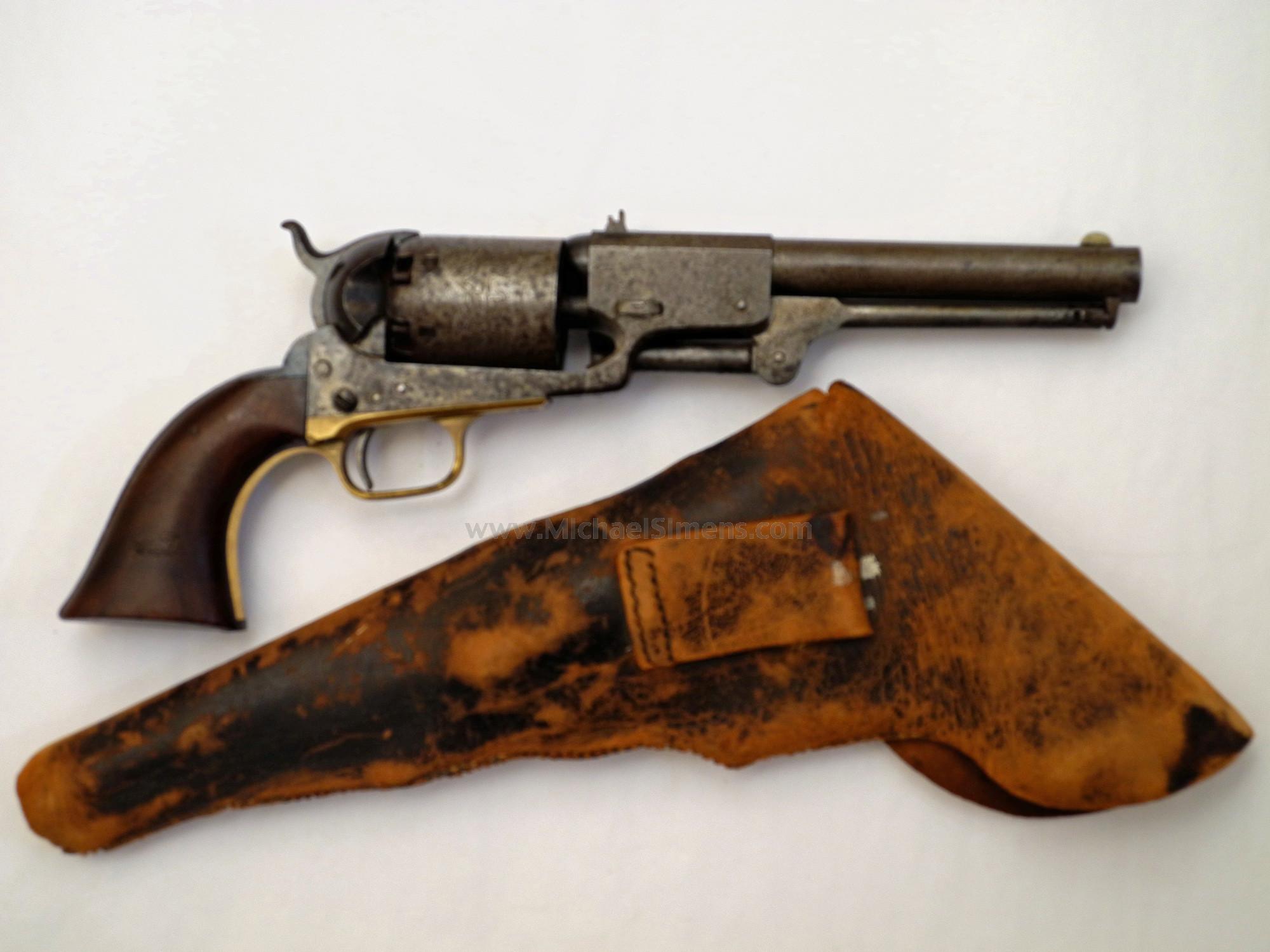 Antique Colt Dragoon Revolver, 4-Screw Cut for Stock, Civil