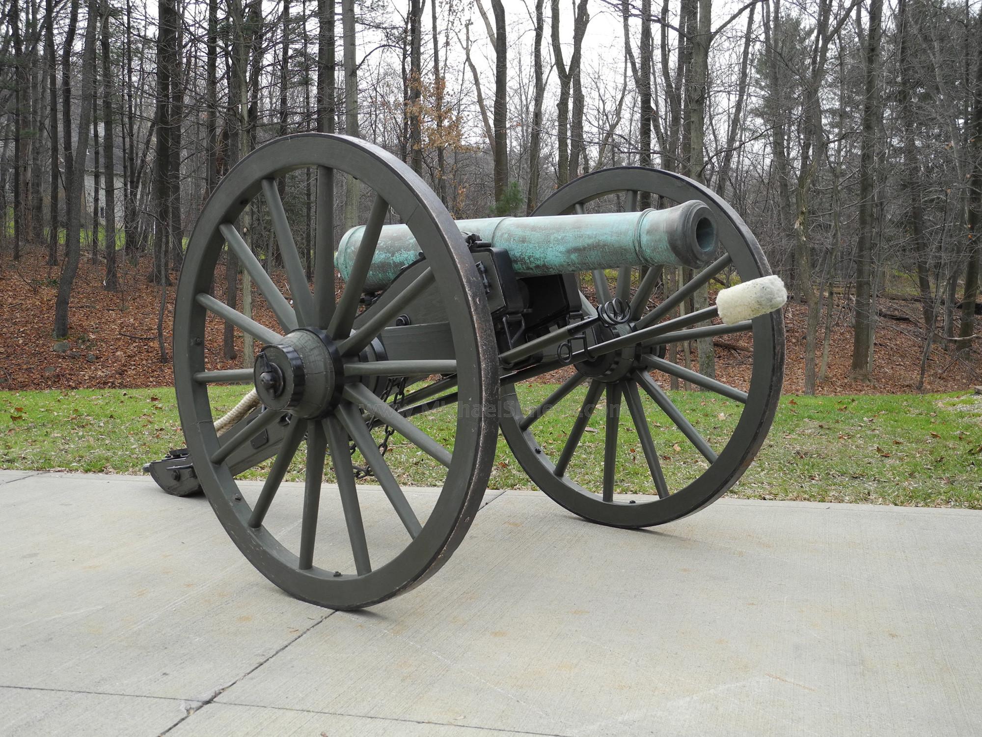 AMES 6-POUNDER BRONZE CANNON - CIVIL WAR GUN