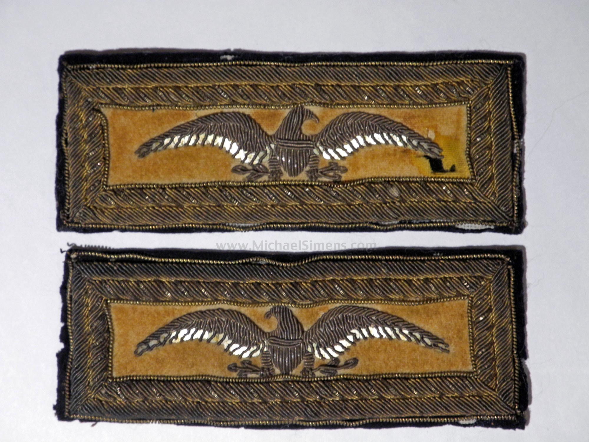 SHOULDER STRAPS FOR CIVIL WAR CAVALRY COLONEL - CIVIL WAR ARTIFACTS