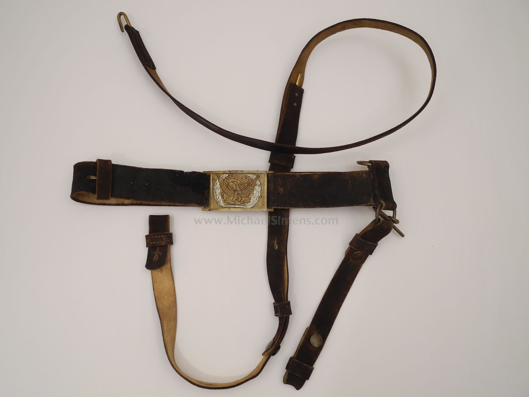 Civil War Cavalry Belt Rig - Civil War Artifact Appraiser, Dealer