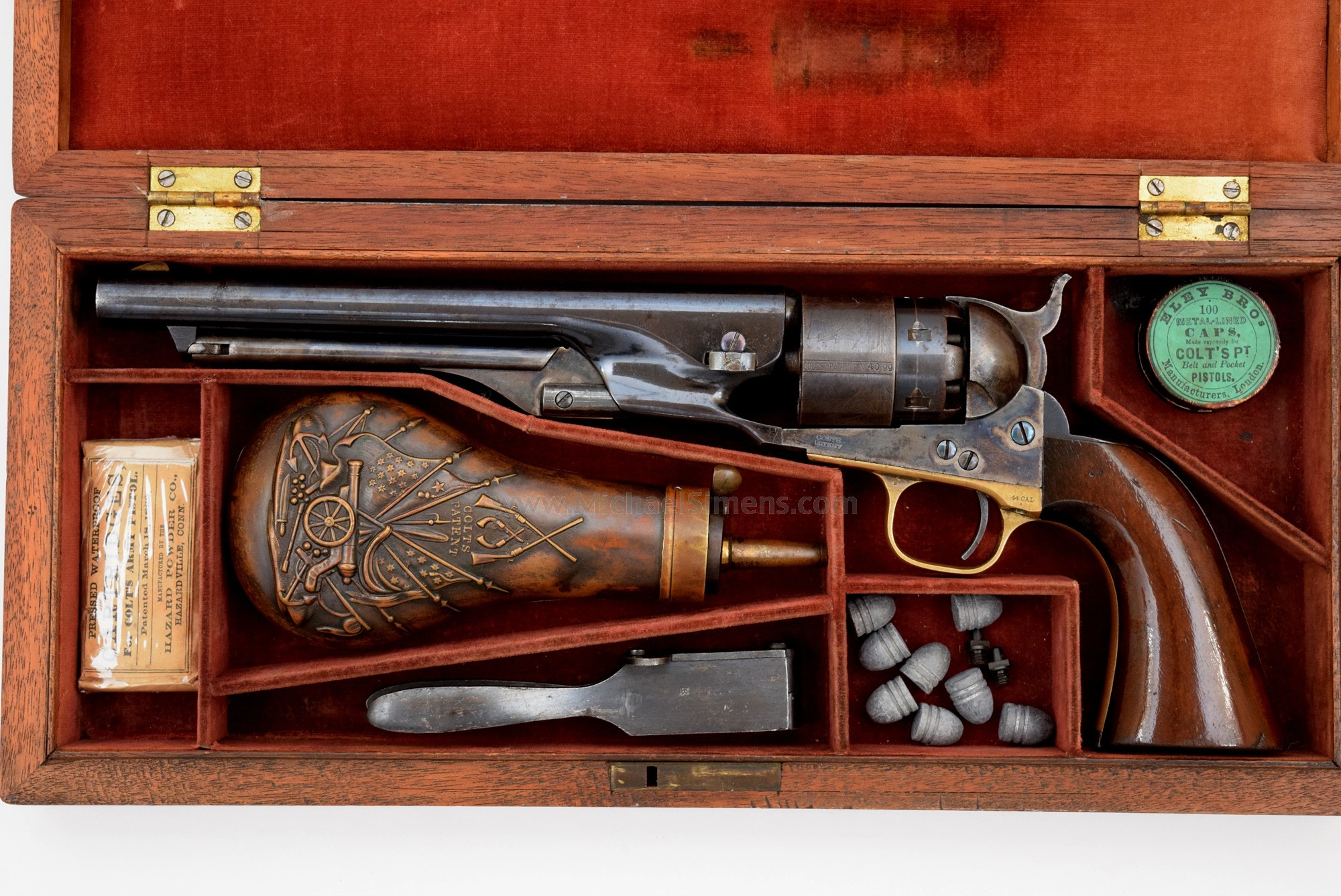 CASED, ANTIQUE COLT 1860 ARMY REVOLVER FOR SALE
