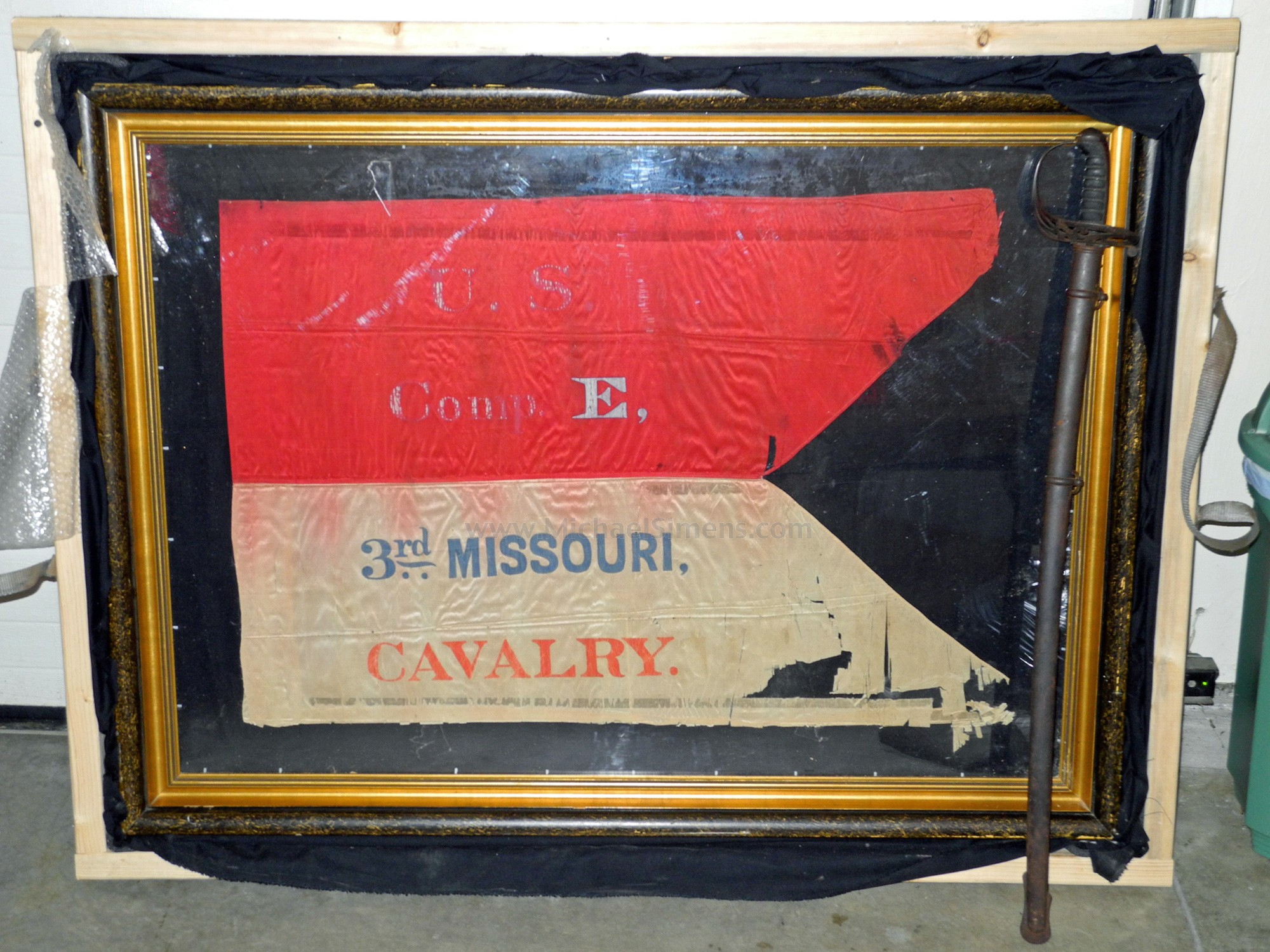 CIVIL WAR REGIMENTAL CAVALRY FLAG FROM MISSOURI