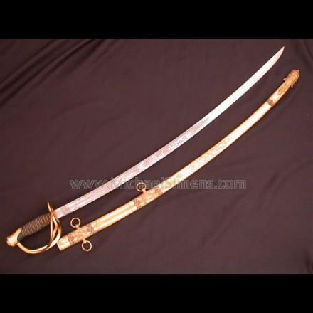 PRESENTATION GRADE AMES CIVIL WAR CAVALRY OFFICERS SABRE.