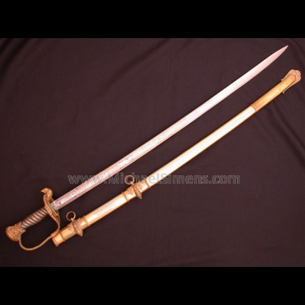 CIVIL WAR TIFFANY SWORD, HISTORICALLY INSCRIBED.