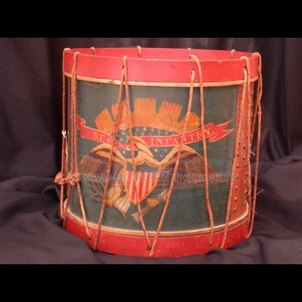 CONFEDERATE CIVIL WAR DRUM.