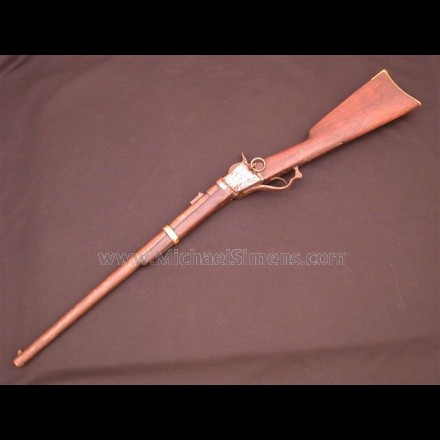 CIVIL WAR CARBINE - CIVIL WAR STARR PERCUSSION CARBINE, MARTIALLY MARKED.