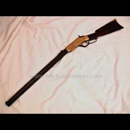 ANTIQUE HENRY RIFLE, INSCRIBED