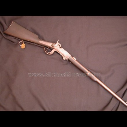 "BURNSIDE CARBINE WITH SERIAL NUMBER ""4"" ON ALL PARTS."