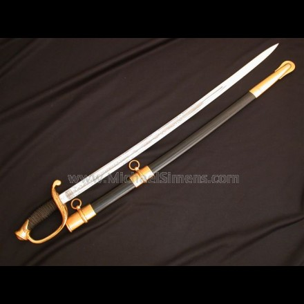 AMES FOOT OFFICER'S SWORD, INSPECTED, DATED