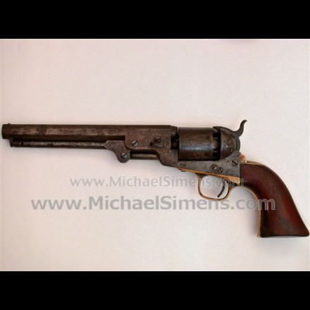 CIVIL WAR COLT NAVY REVOLVER WITH ORIGINAL HOLSTER.