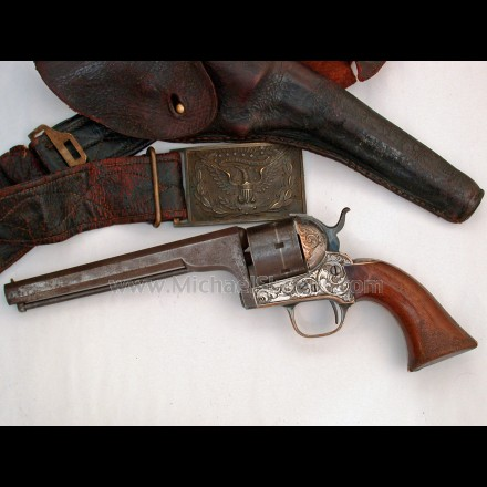 Moore Civil War Revolver, Inscribed
