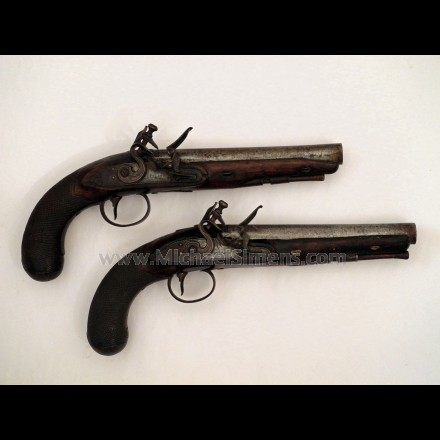 IDENTIFIED PAIR OF CONTINENTAL FLINTLOCK PISTOLS