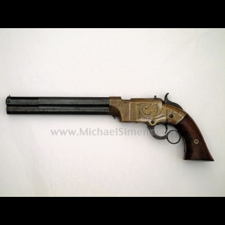 FACTORY ENGRAVED VOLCANIC PISTOL - HISTORICAL ANTIQUES