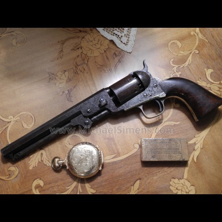 COLT 1851 NAVY REVOLVER, ENGRAVED, INSCRIBED