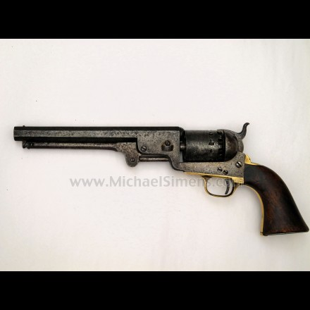 ANTIQUE COLT NAVY REVOLVER, BREVETE