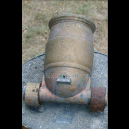 British War of 1812 bronze foot mortar, dated 1813