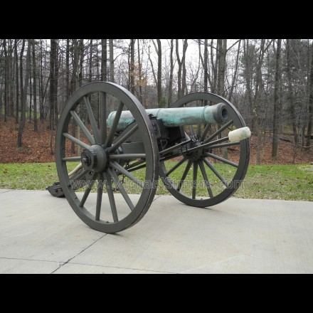 AMES 6-POUNDER BRONZE CANNON - CIVIL WAR GUN