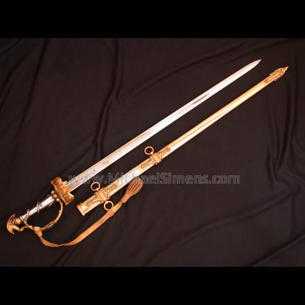 Presentation Civil War Sword by Tiffany with Cannon-Hilt