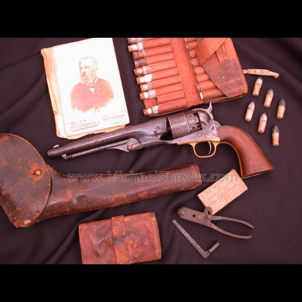 COLT, 1860 MARTIALLY MARKED REVOLVER WITH HISTORICAL ARCHIVE
