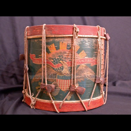 ANTIQUE CIVIL WAR DRUM FROM THE 175TH PENNSYLVANIA.