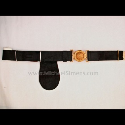 CIVIL WAR MILITIA BELT WITH 2-PIECE VA. BUCKLE.
