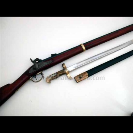 REMINGTON ZOUAVE RIFLE WITH BAYONET AND SCABBARD.