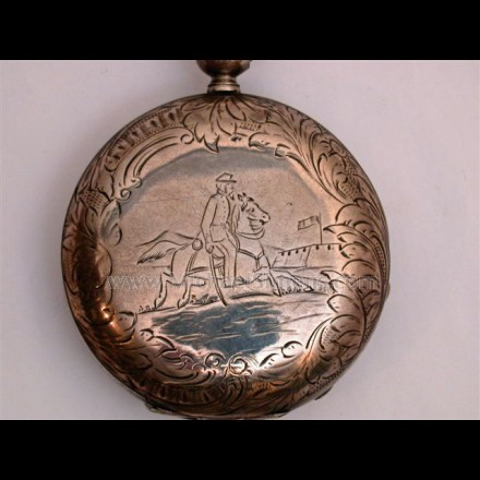 CIVIL WAR POCKET WATCH BY TOBIAS OF LIVERPOOL.