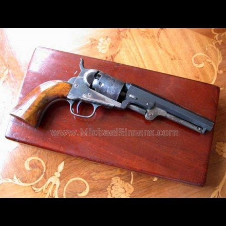 COLT POCKET REVOLVER, CASED WITH ACCESSORIES.