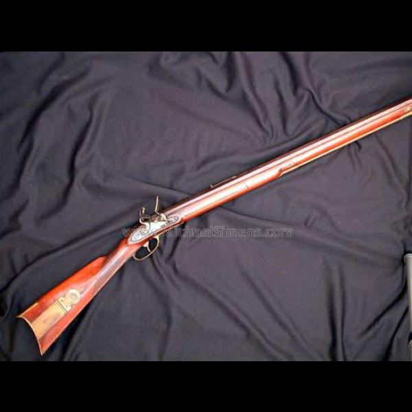 New England Flintlock Kentucky Rifle Marked Quot A Pratt Quot On