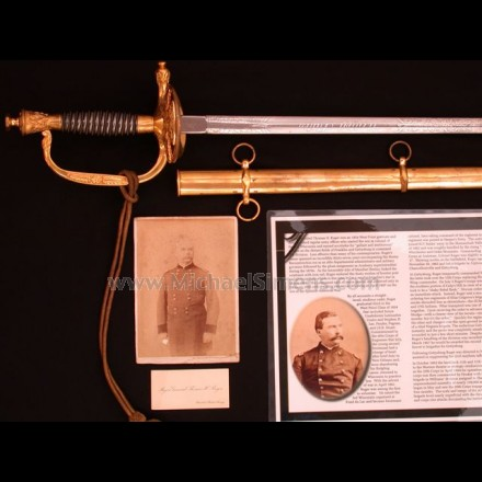 MODEL 1860 STAFF AND FIELD OFFICERS SWORD OF MAJOR GENERAL THOMAS H. RUGER.