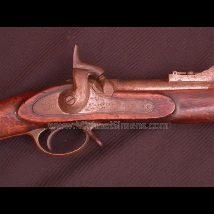 ANTIQUE CIVIL WAR ENFIELD RIFLE WITH BAYONET.