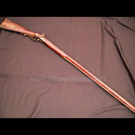 FLINTLOCK KENTUCKY RIFLE FROM WESTERN PENNSYLVANIA.