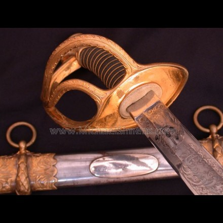 TIFFANY CIVIL WAR CAVALRY SABER / SWORD, PRESENTATION.