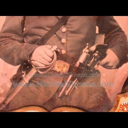 CIVIL WAR TIN TYPE PHOTO, CAVALRY TROOPER.