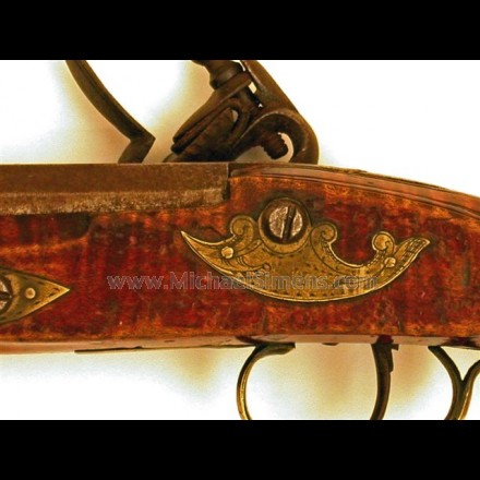 ANTIQUE KENTUCKY PISTOL. POSSIBLY BY KUNTZ.