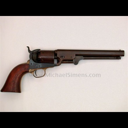 COLT 1851 NAVY REVOLVER, MARTIALLY MARKED.