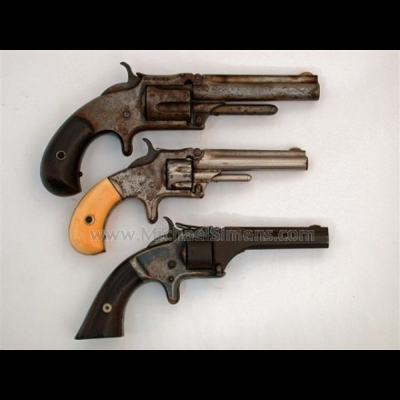 ANTIQUE SMITH & WESSON REVOLVERS.