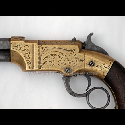 """FACTORY ENGRAVED VOLCANIC PISTOL WITH 4"""" BARREL"""