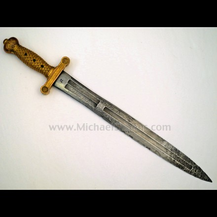 AMES HEAVY ARTILLERY SWORD, ETCHED BLADE